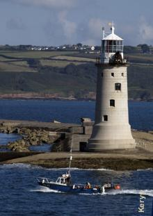 Le phare du Plymouth breakwater -